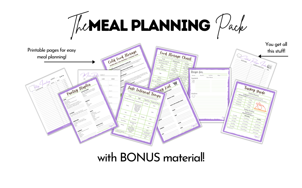 Meal Planning Printable Pack