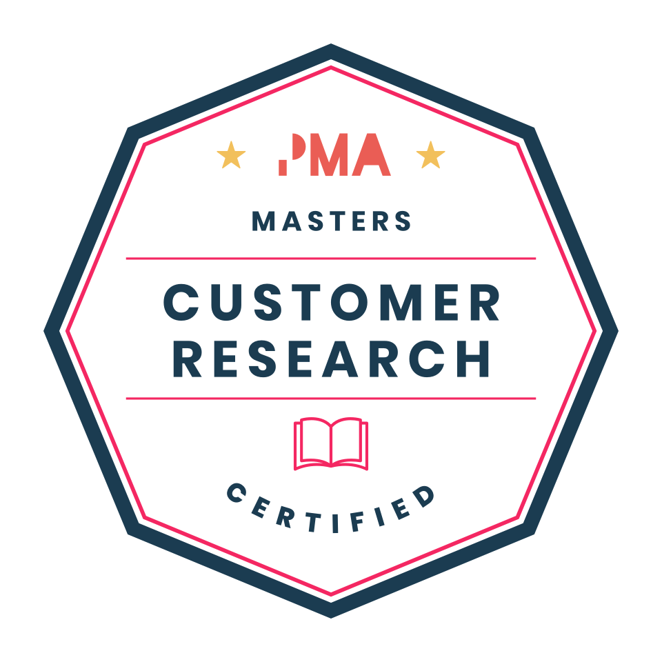Customer & market research certified badge