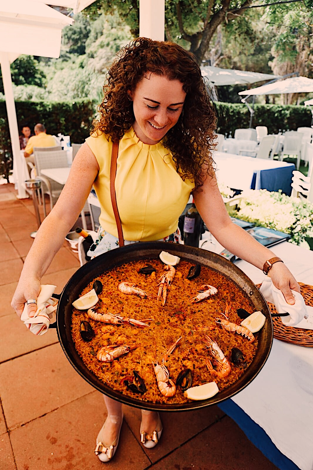 Eating Paella in Spain