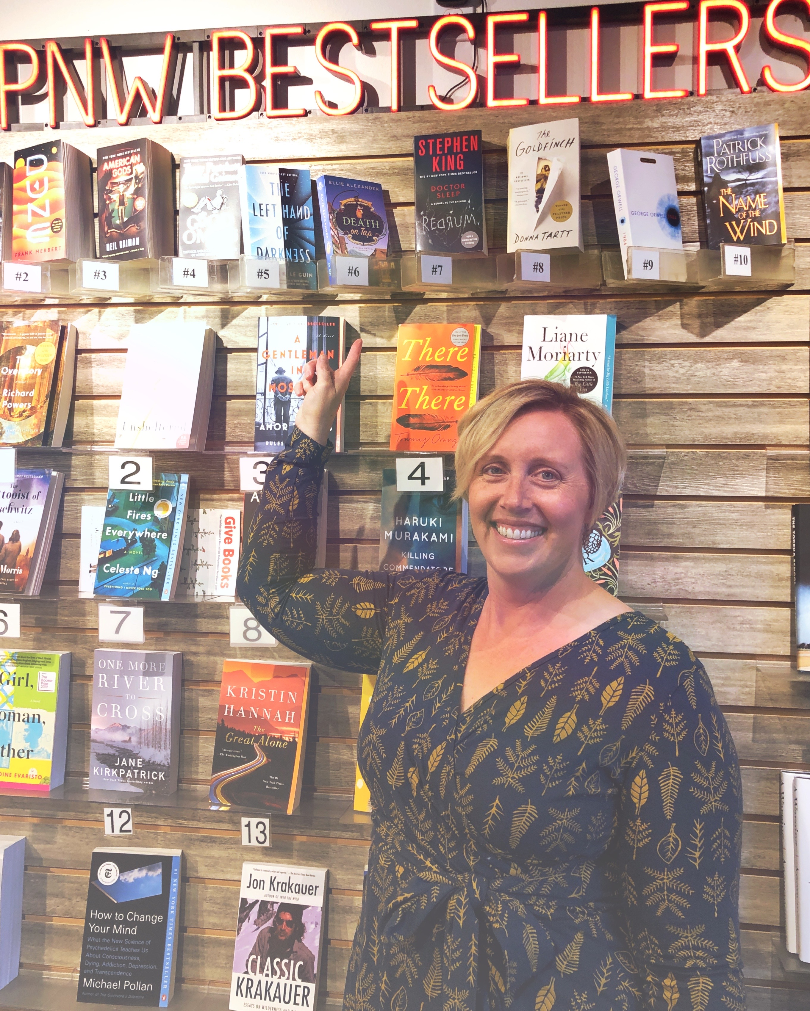 Author Ellie Alexander with PNW Bestseller Book, Death on Tap