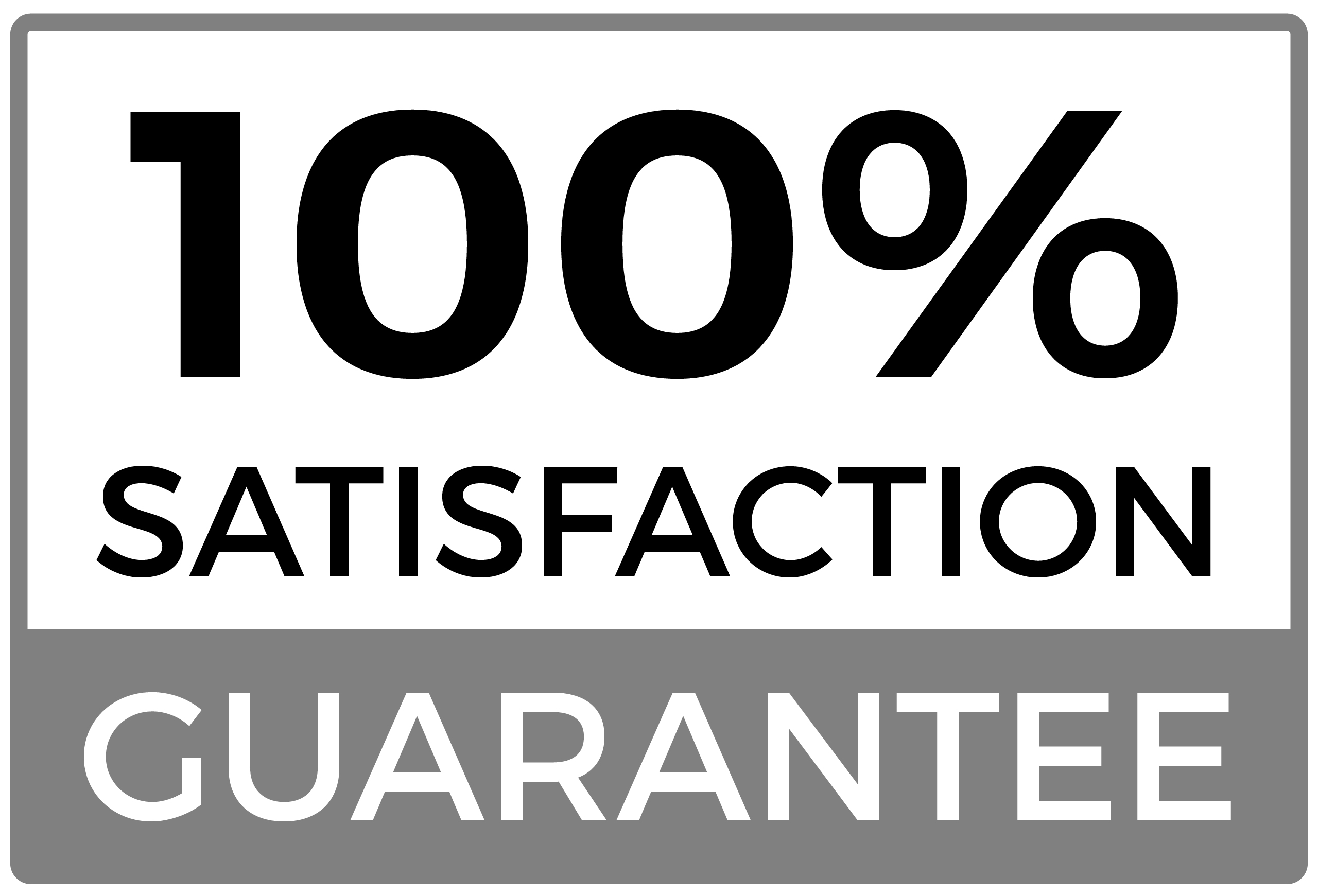 one hundred percent satisfaction guarantee icon