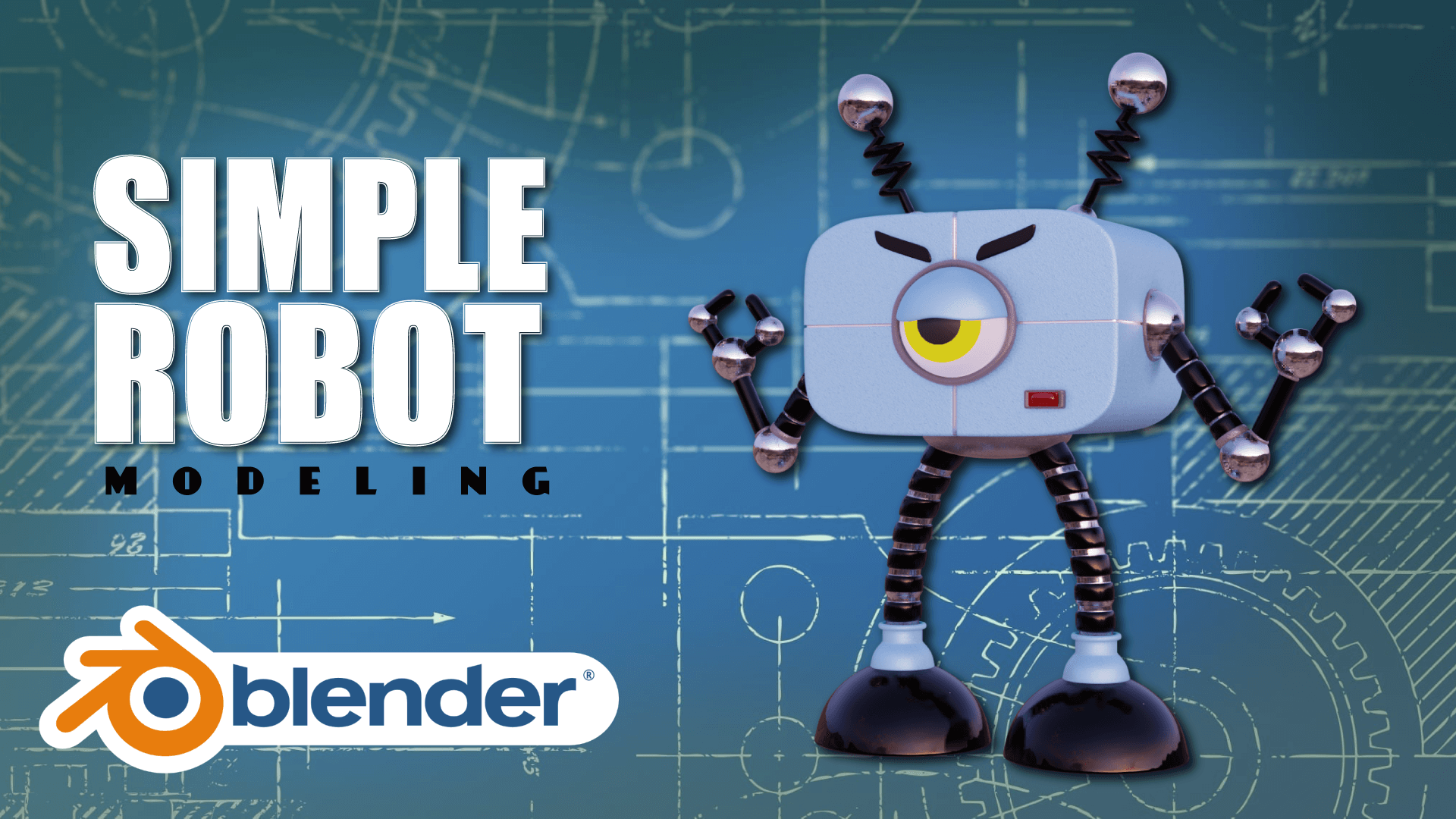 Simple Robot Character Blender Academy Course