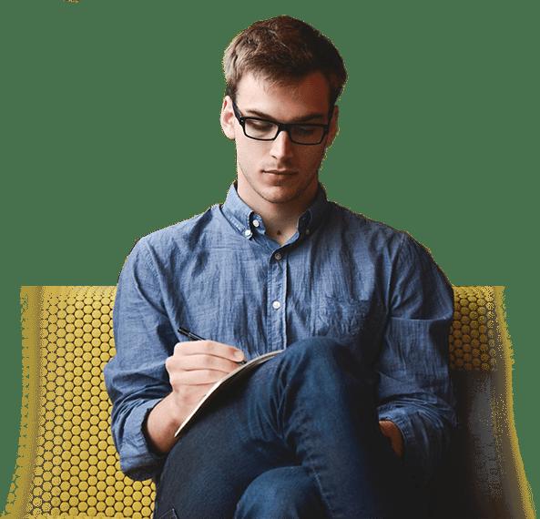 Man studying NLP