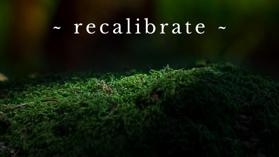 recalibrate
