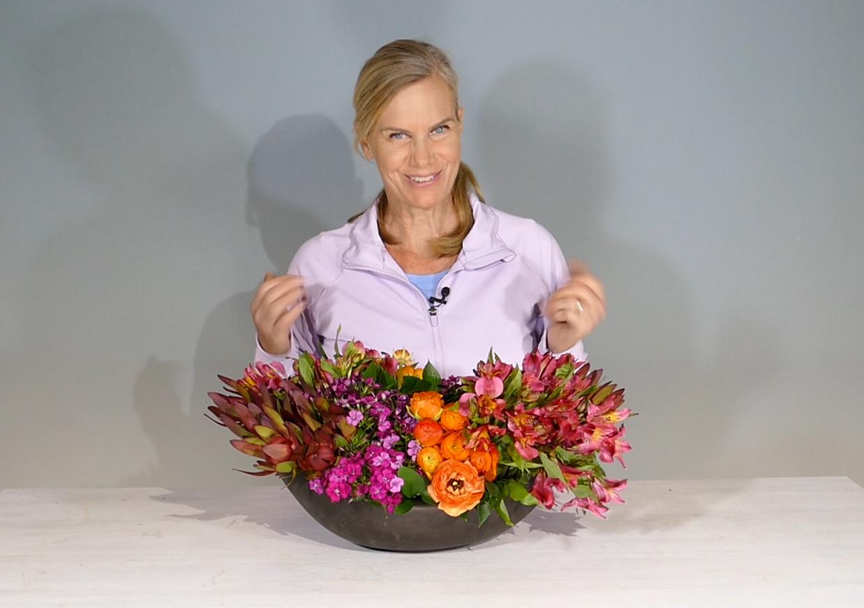 Kit Wertz of Flower Duet makes another creation for Flower Arranging Fridays