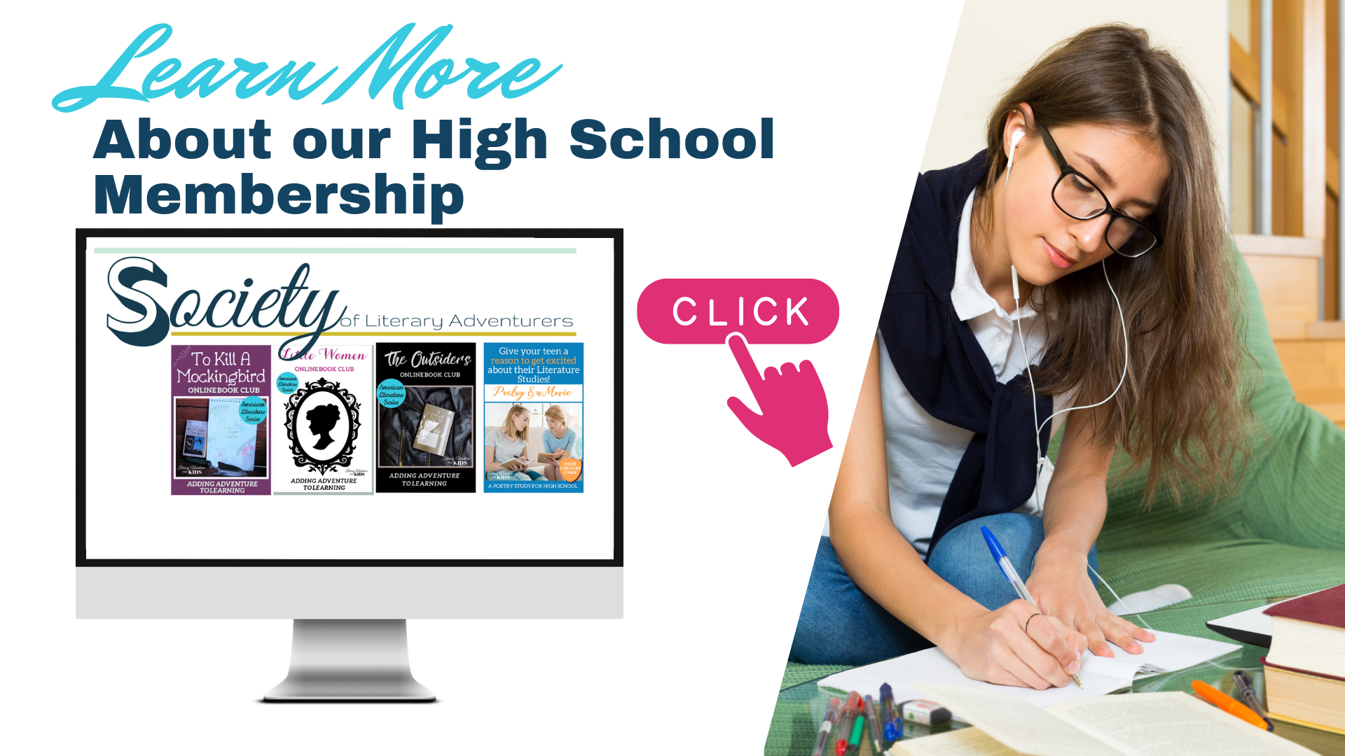 The Society of Literary Adventurers - High School Membership Learn More