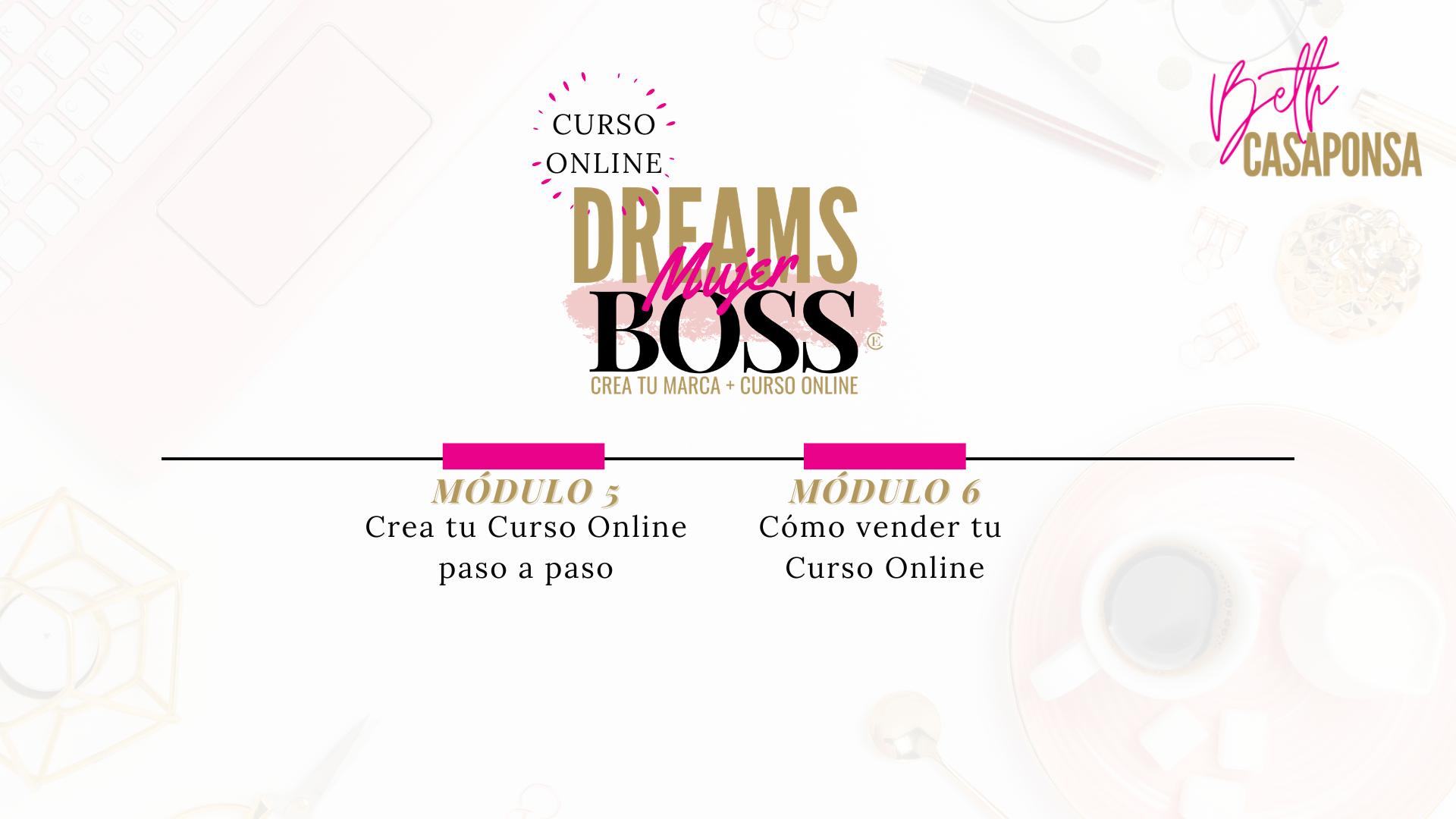 Crea tu curso online para mujeres emprendedoras