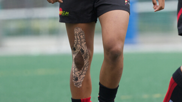 Dynamic Tape on Knee