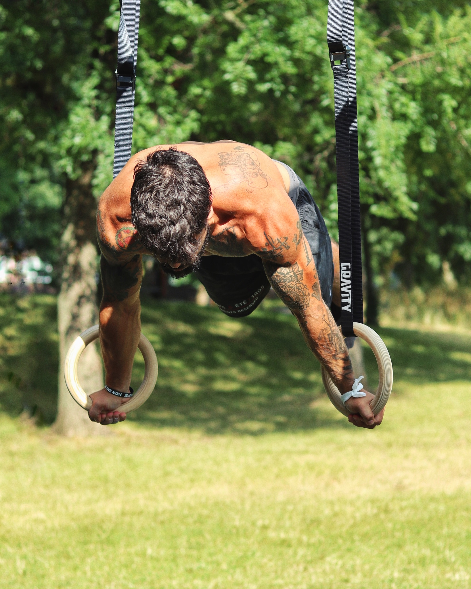 planche on rings