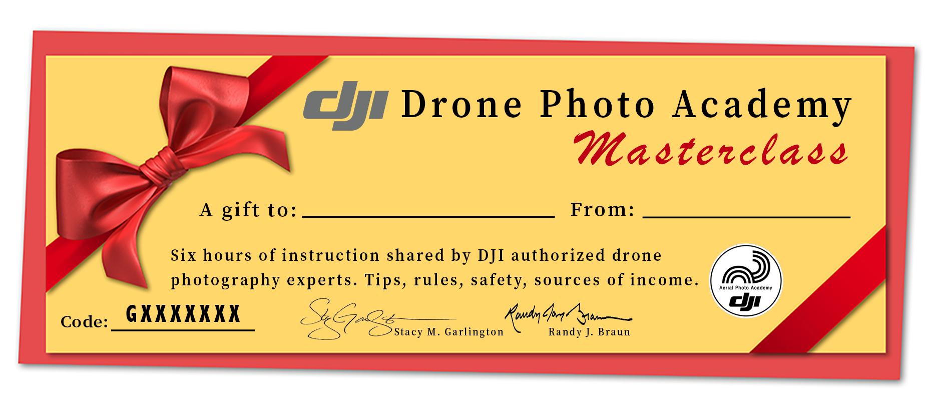 Gift Certificate 2020