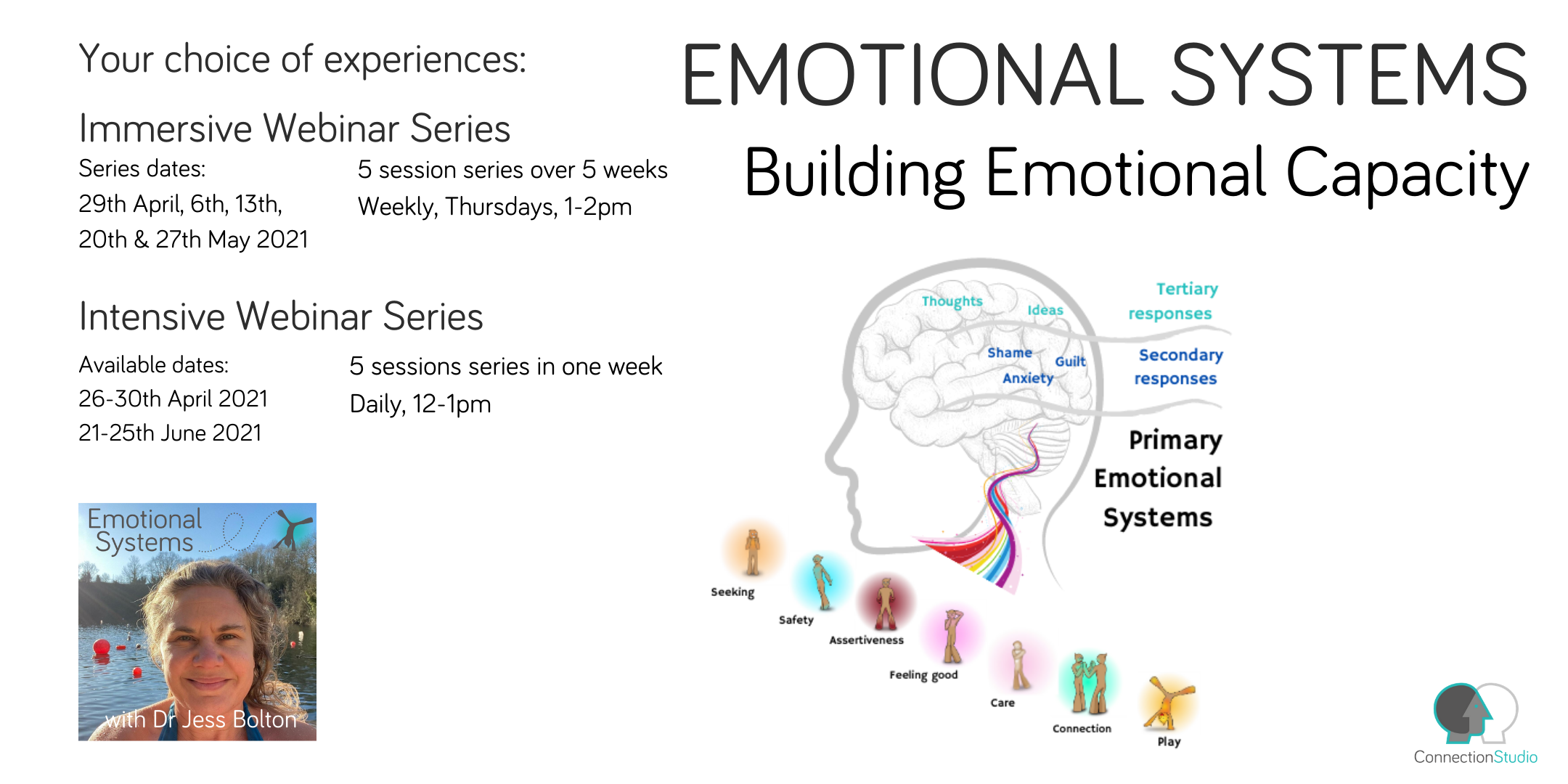 Dates and times of Emotional Systems 5 part webinars
