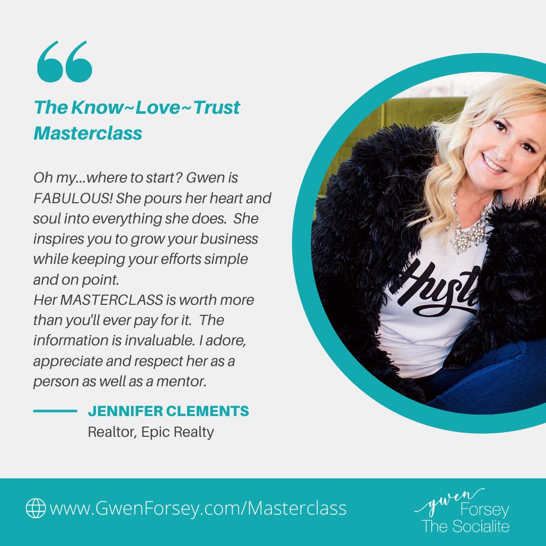 testimonial for know love trust masterclass
