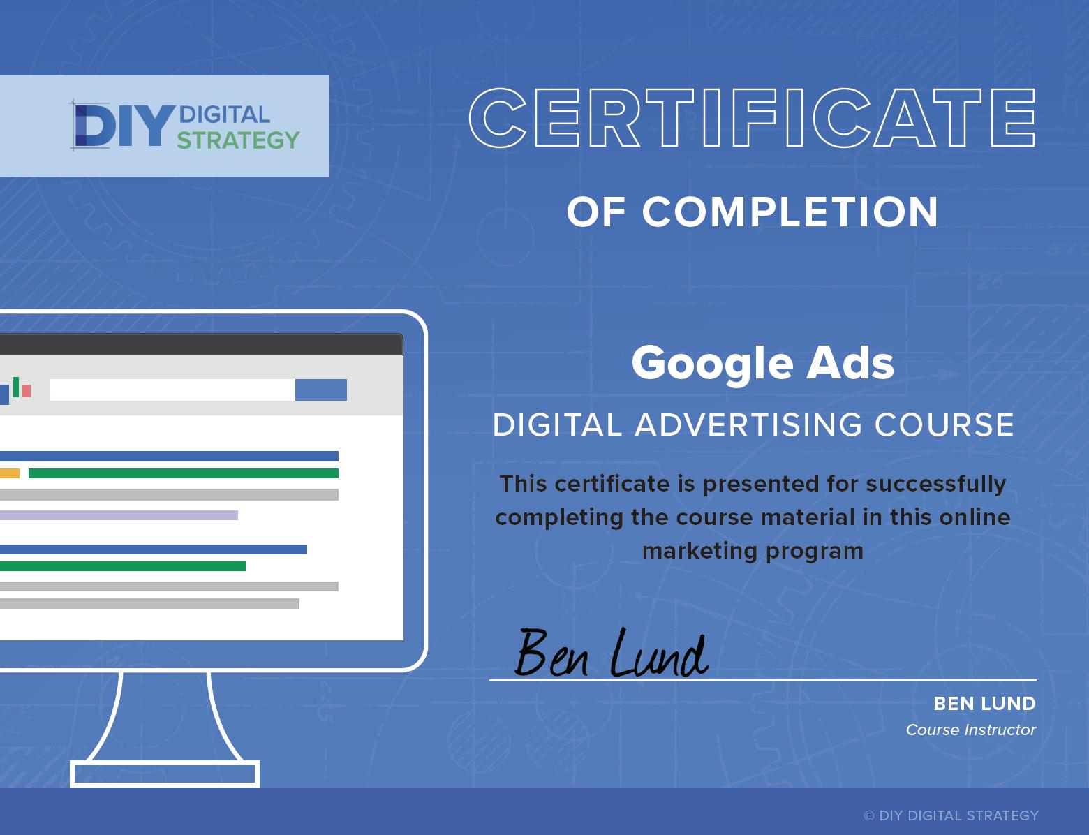 Google Ads Certitificate