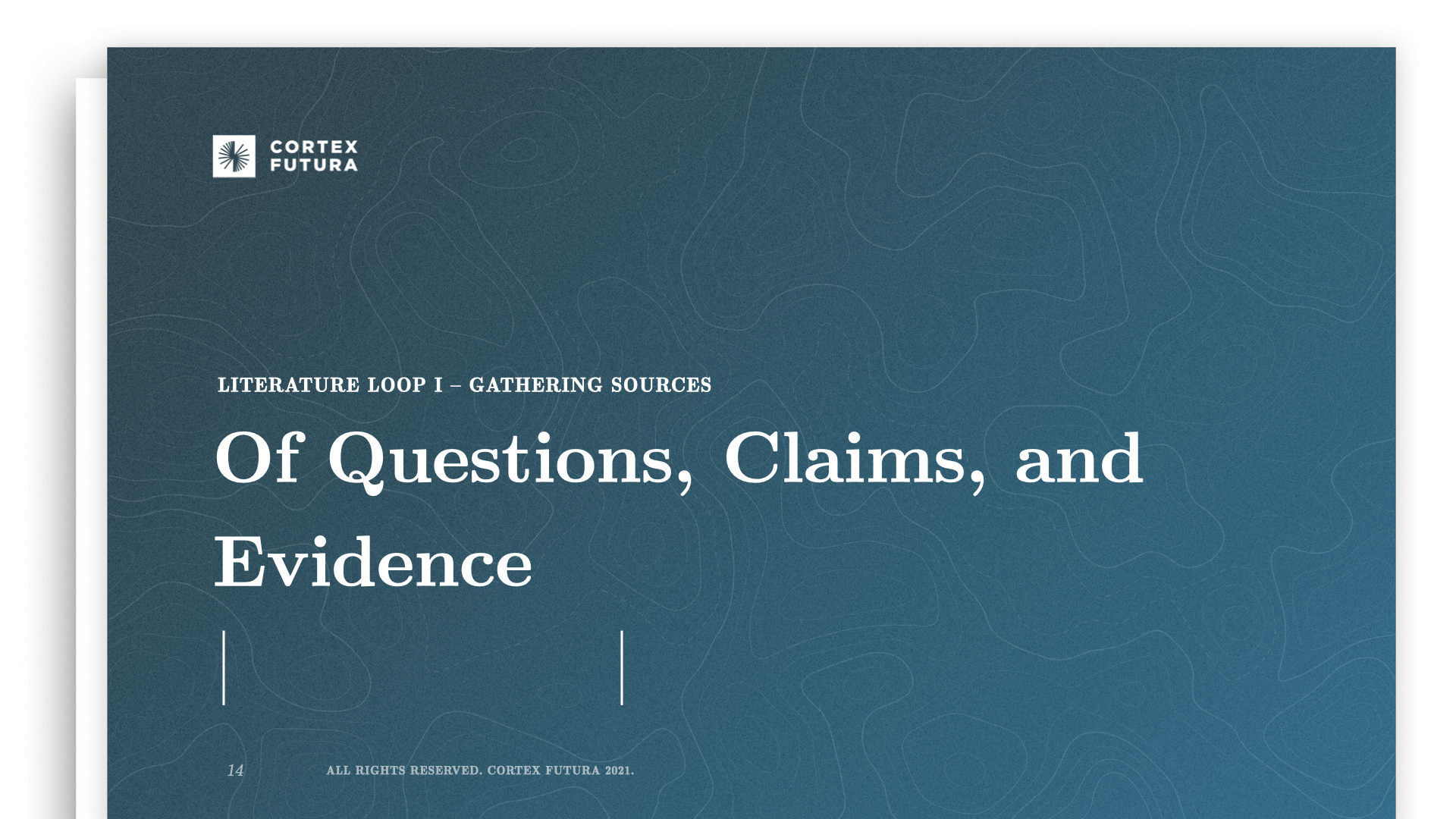 Of Questions, Claims, and Evidence