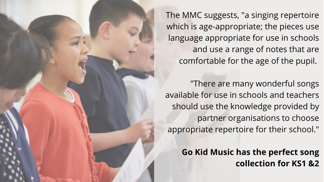 MMC quote and image of children singing