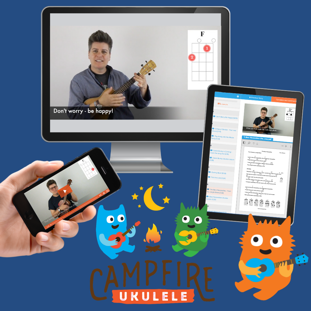 How Campfire Ukulele lessons look on screens