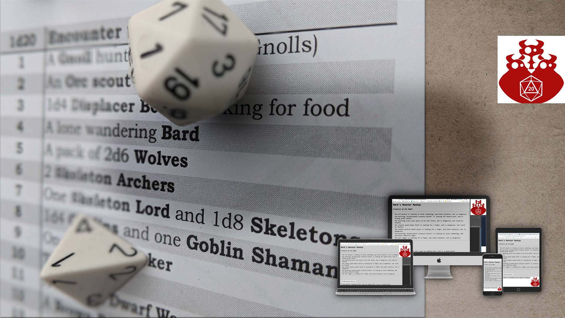 A free course for generating random content for your roleplaying game. Random Names, Monsters, NPCs. Online course