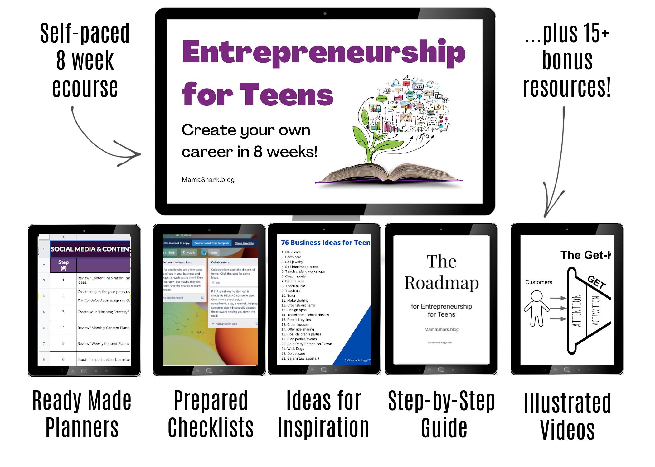 Entrepreneurship for Teens for Life Skills Bundle