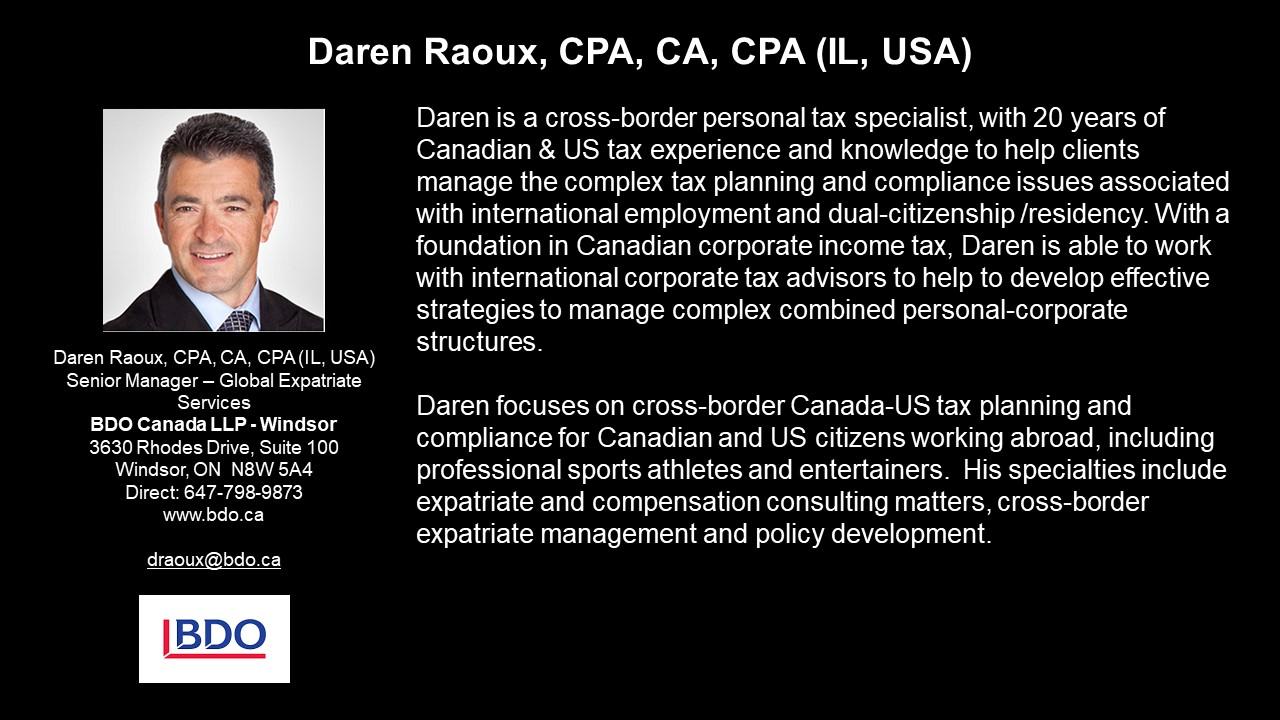 APEG Daren Raoux, CPA, CA, CPA (IL, USA)