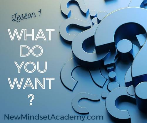 What do you want? NewMindsetacademy