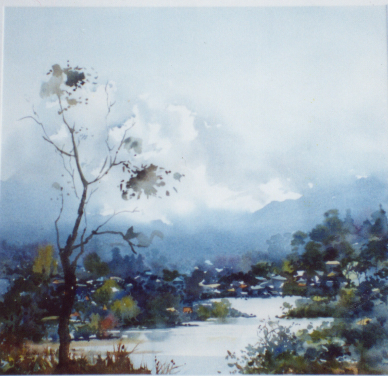 Watercolour painting of Berowra Broken Bay area