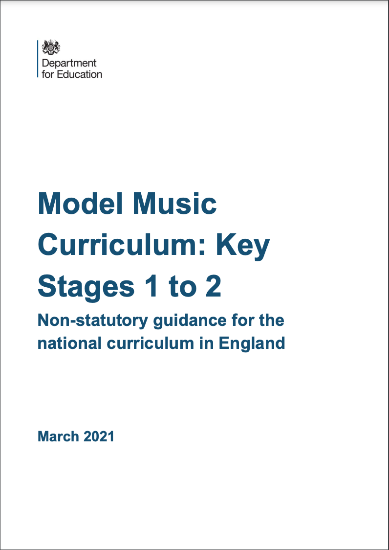 image of the cover of the Model Music Curriculum 2021