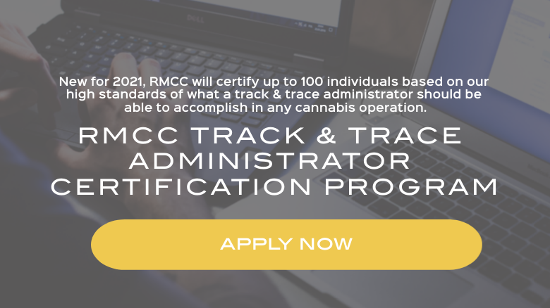 apply for the rmcc Track and Trace Administrator certification program here