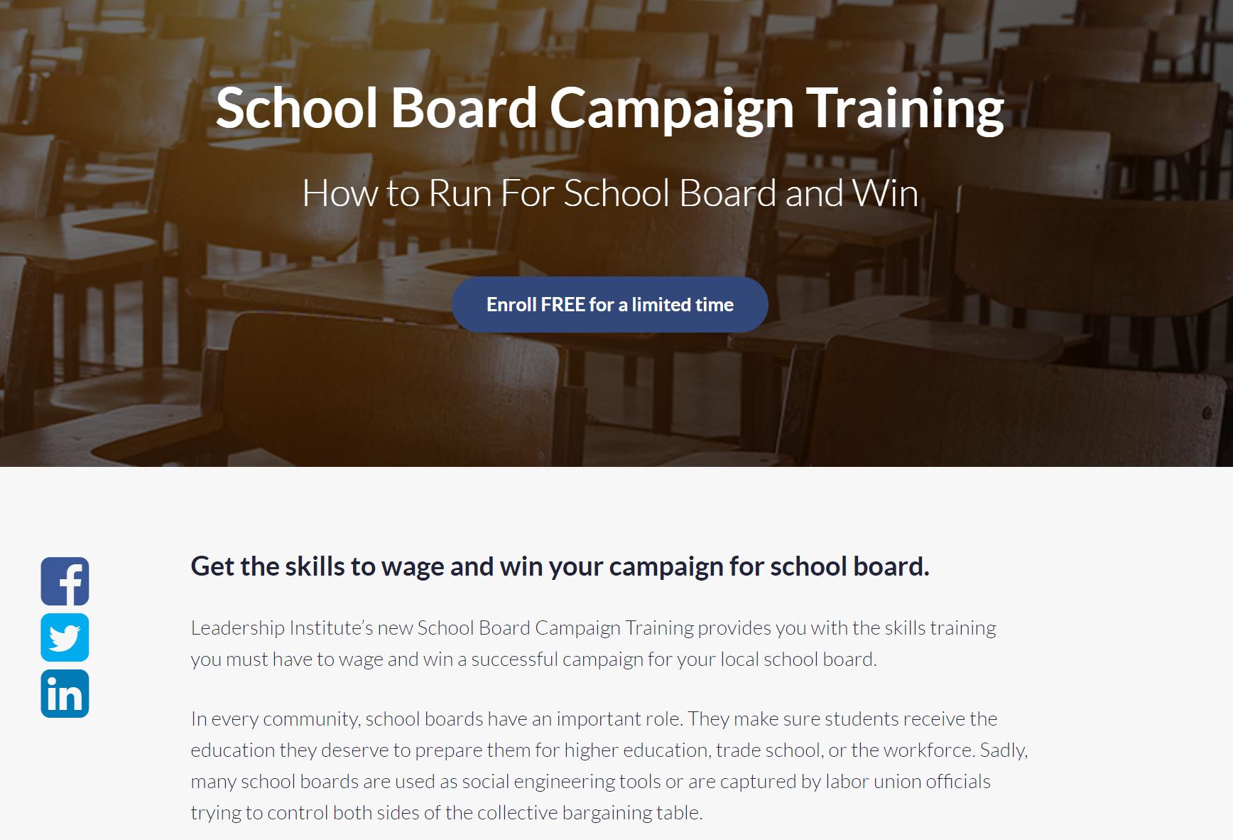 On-Demand School Board Campaign Training