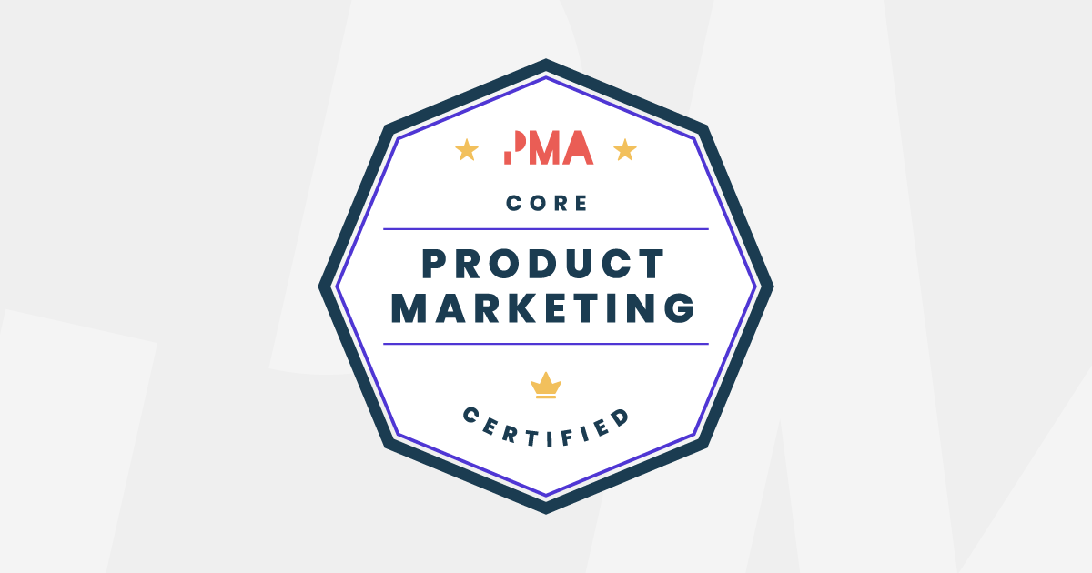 Product Marketing Certified