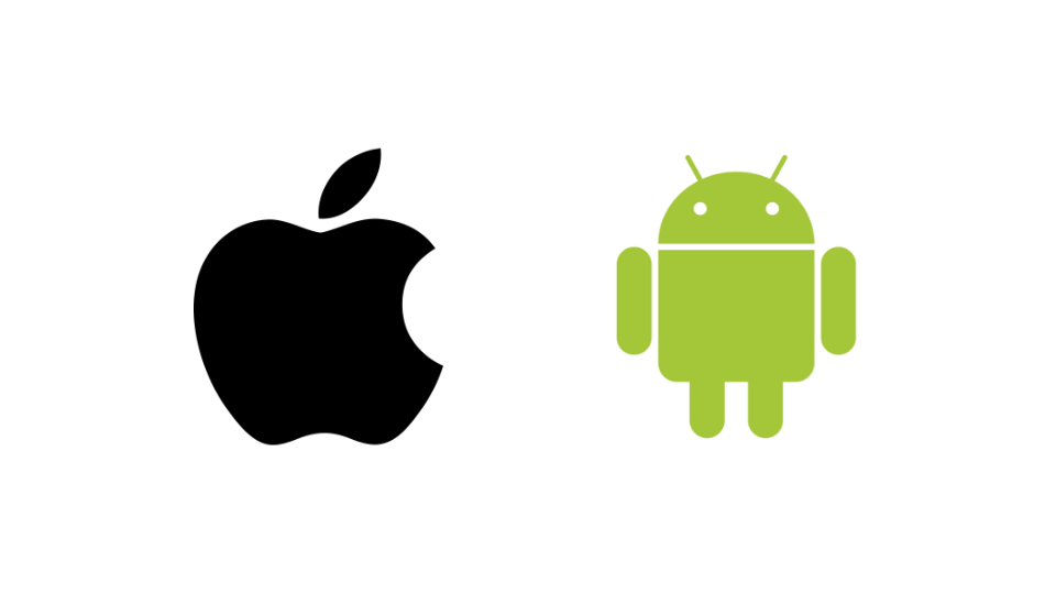 Logos Apple et Android