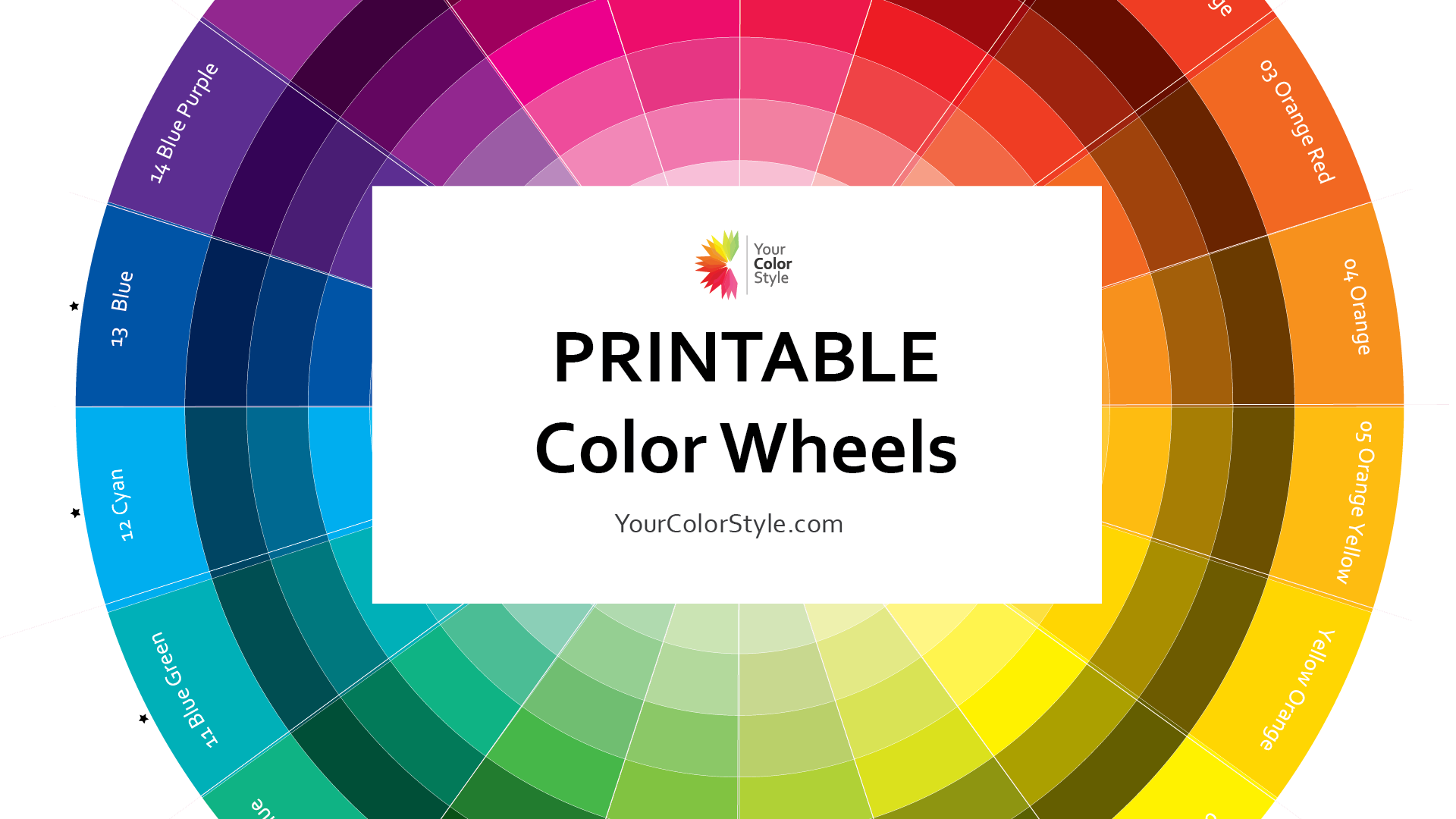 Printable Color Wheels