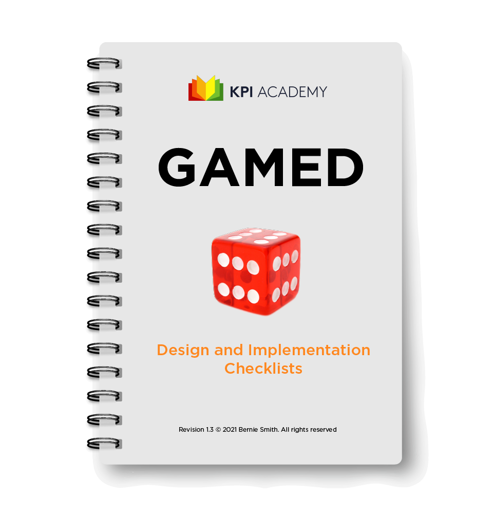 GAMED definition and implementation checklists handbook