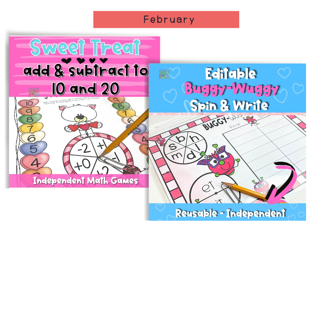 2 February Games 1 math and 1 reading