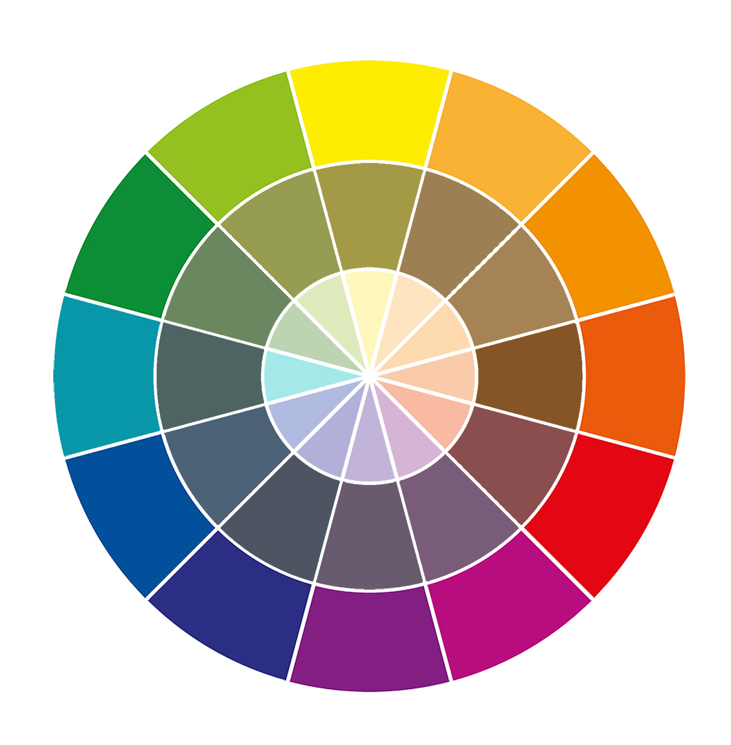 color wheel for painting class