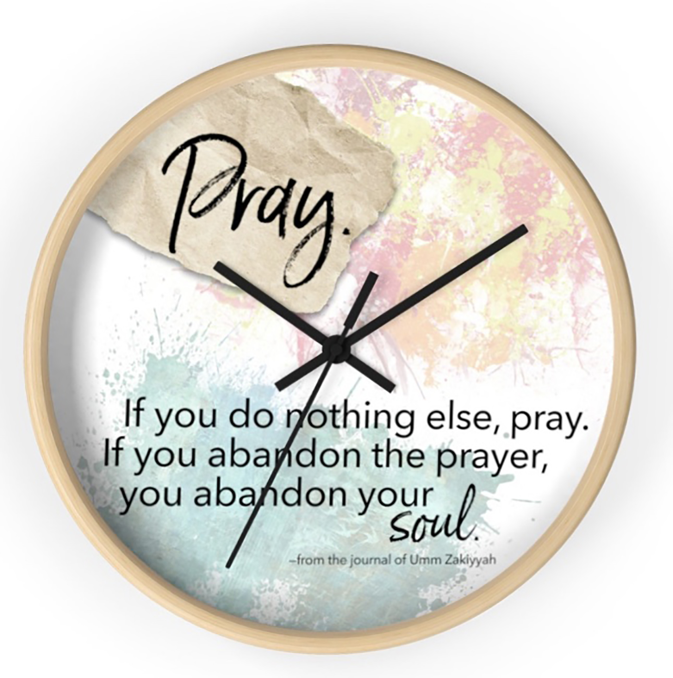 Pray clock screenshot (from uzsoulgear.com)