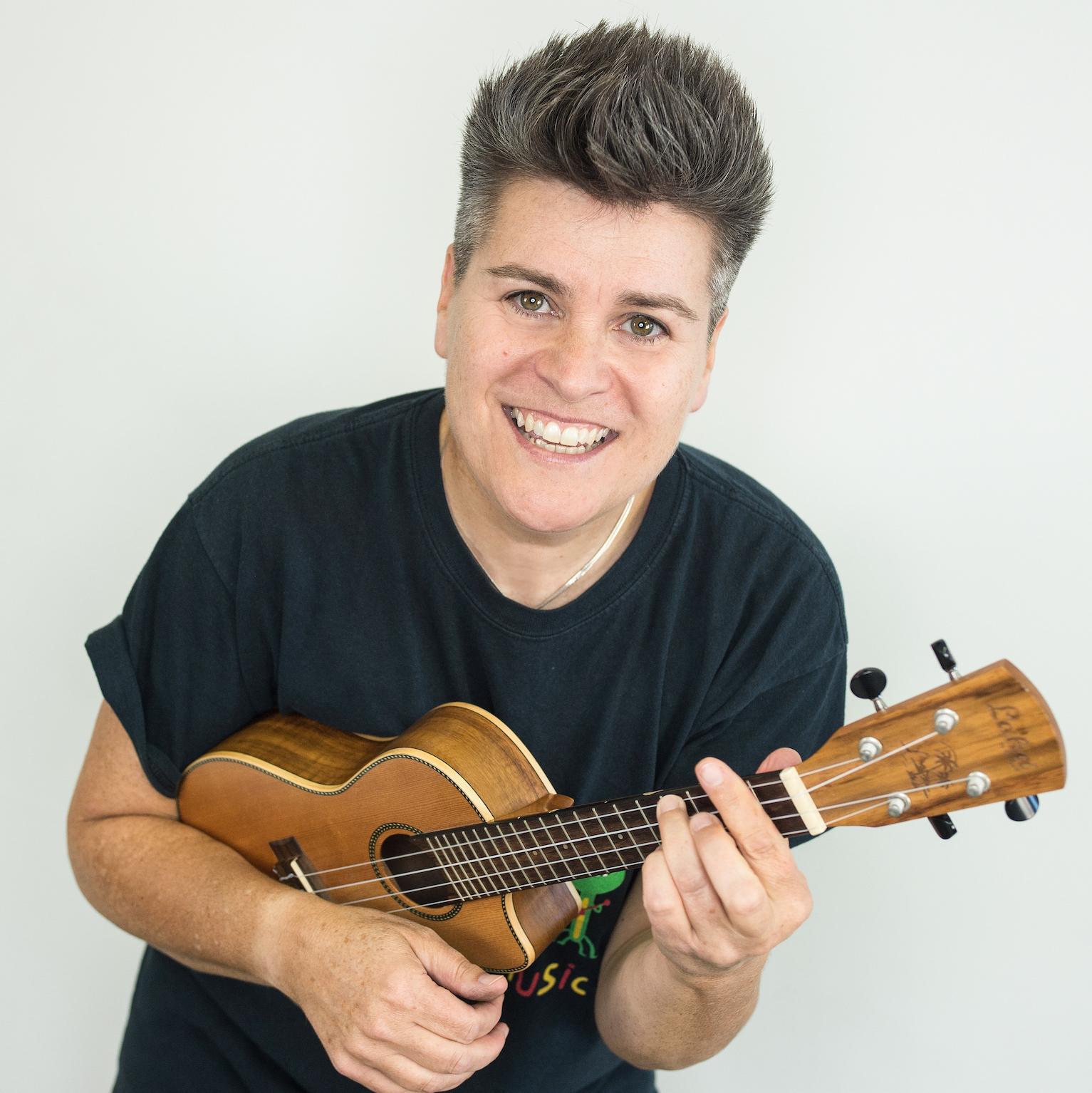 Al Start with her ukulele