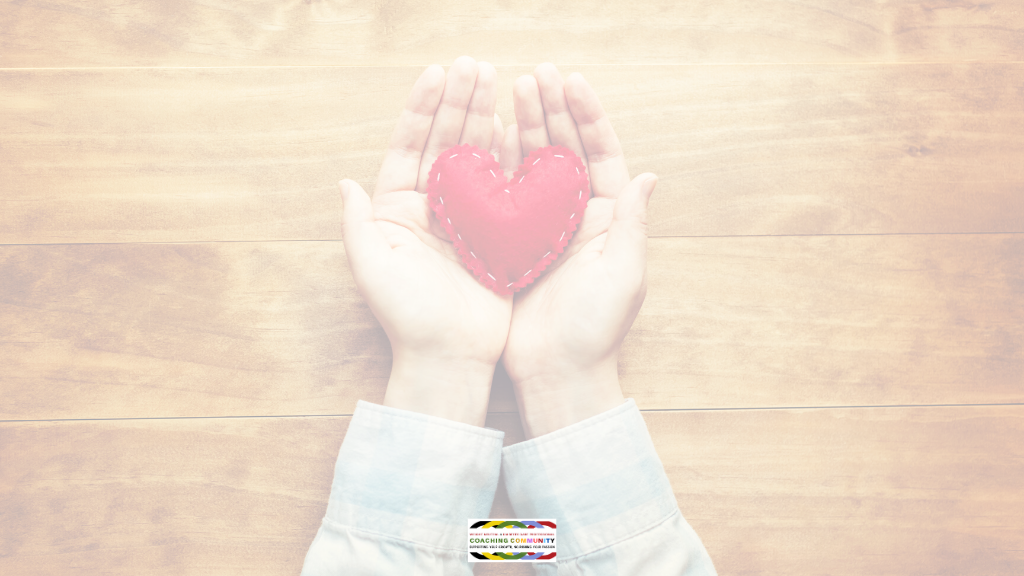 handouts holding a heart