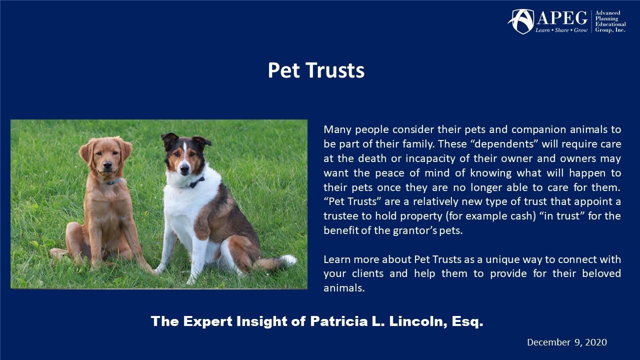 APEG Pet Trusts