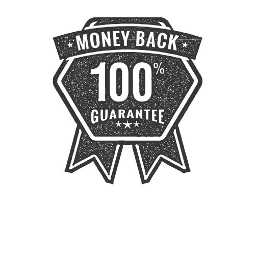 money back guarantee rosette