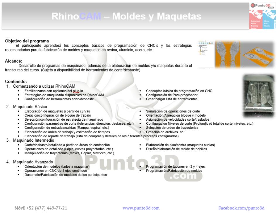 Temario RhinoCAM
