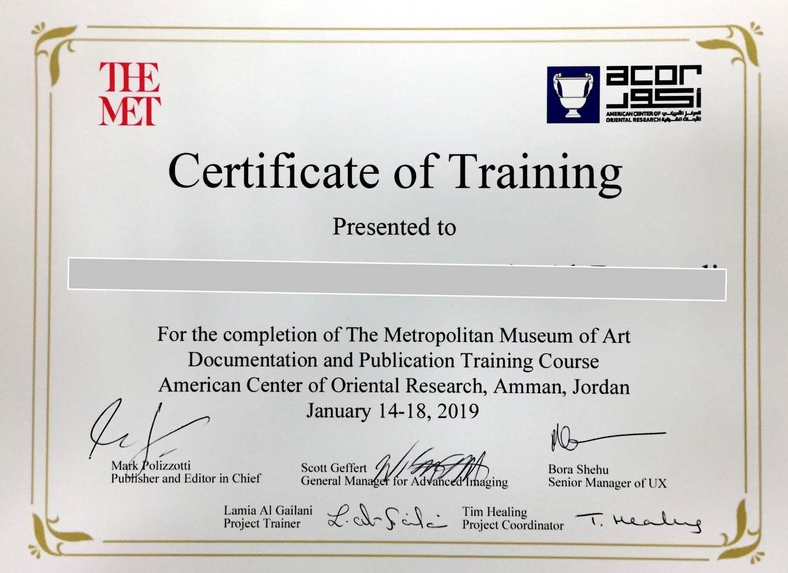 CLASS CERTIFICATES   You will receive a handsome, certified certificate of completion for each course.