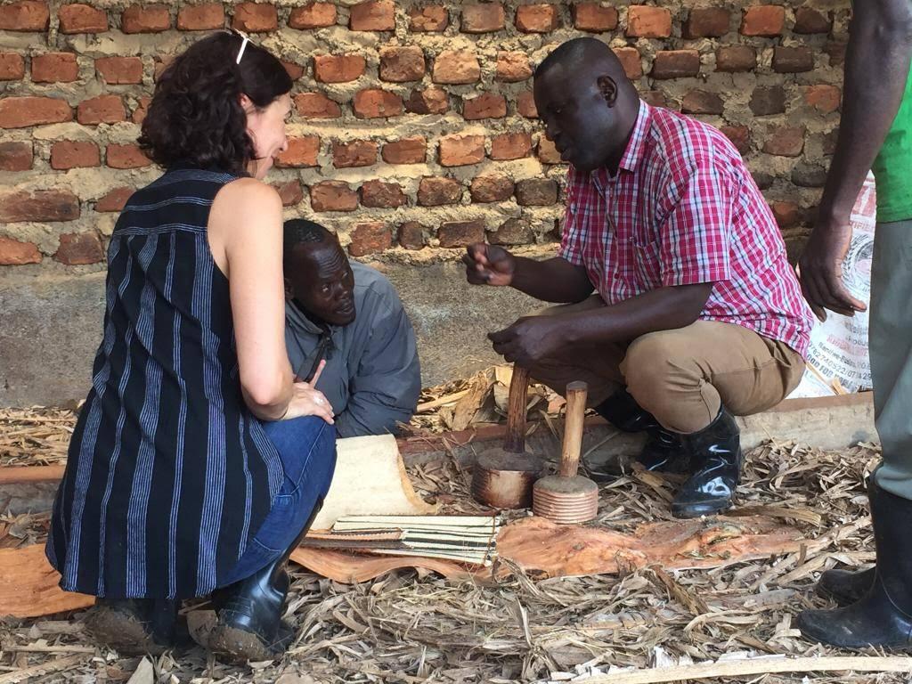 With Fred Mutebi and Vincent  Kajooga in Bukomansimbi, Uganda