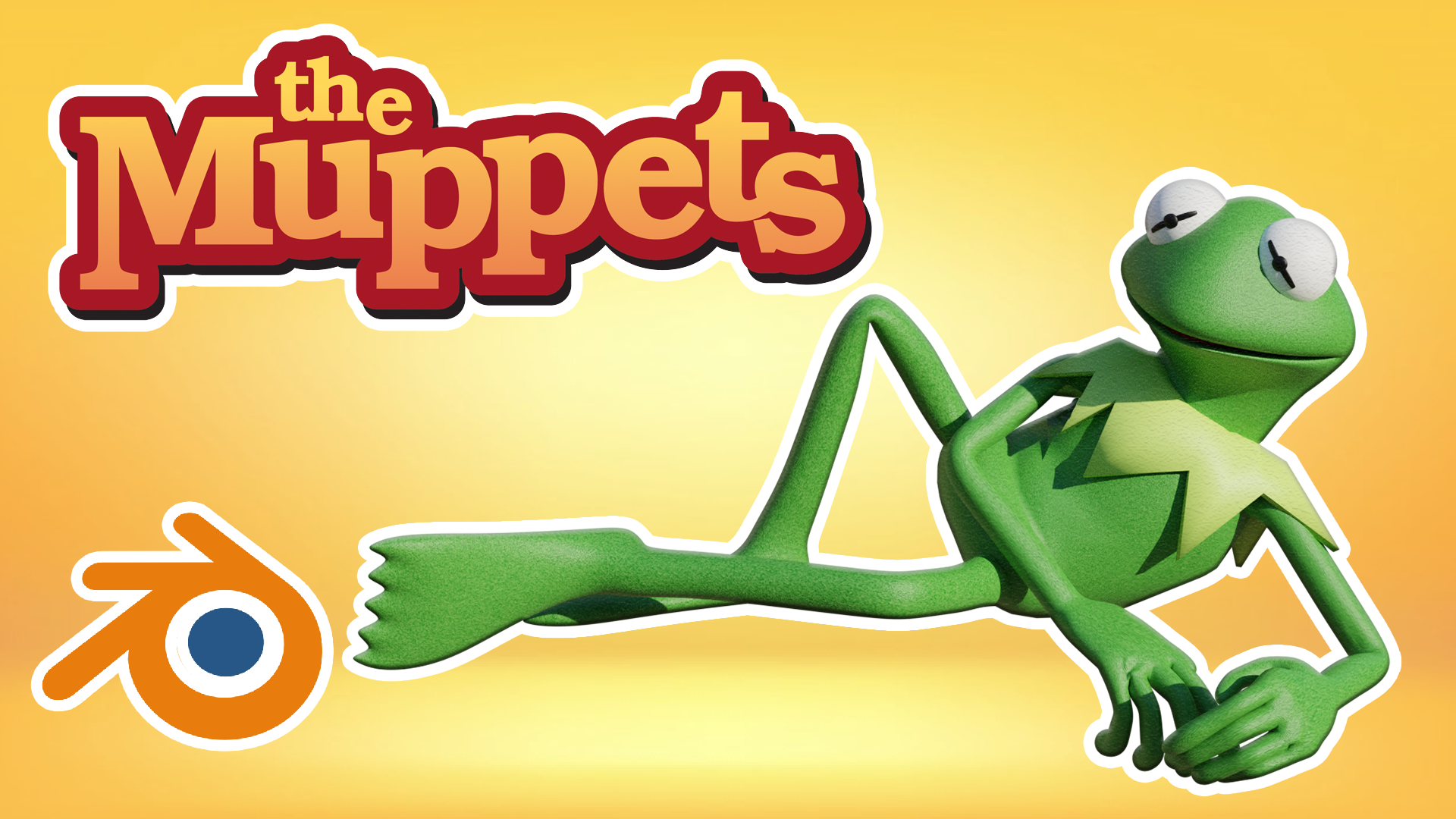 Kermit The Frog Model Character 3D Blender Course Academy