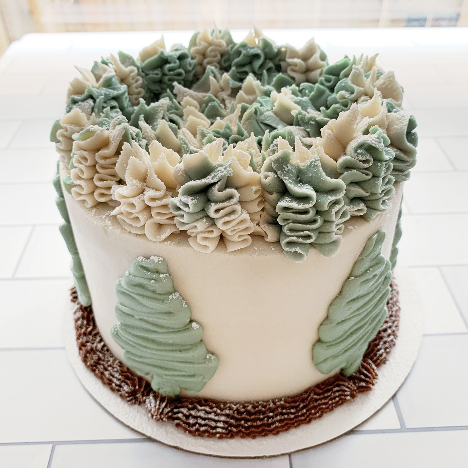 Winter Wonderland Cake by The Allergy Chef
