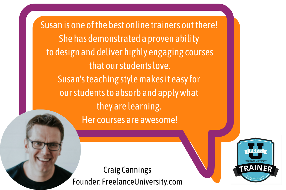 susan weeks online course trainer cheering you on