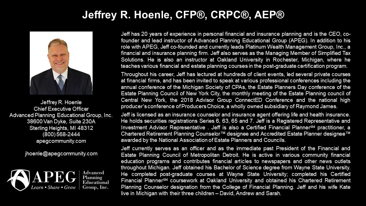 APEG Jeffrey Hoenle