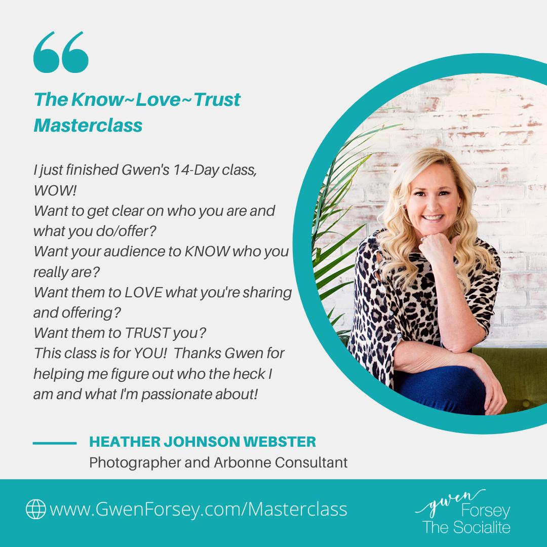 know love trust mastercourse testimonial