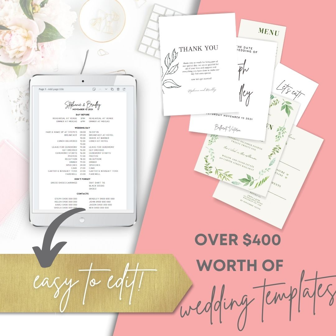 Wedding invitation templates Canva