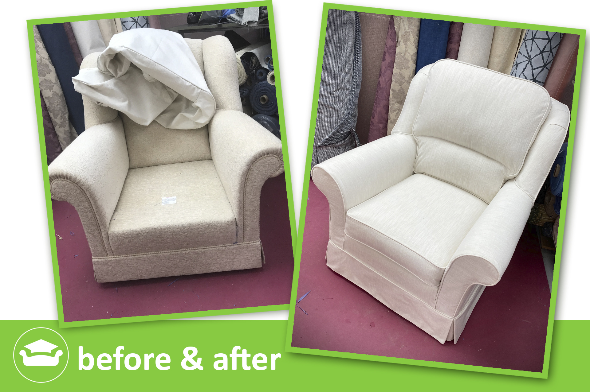 learn to make slipcovers for a winged chair