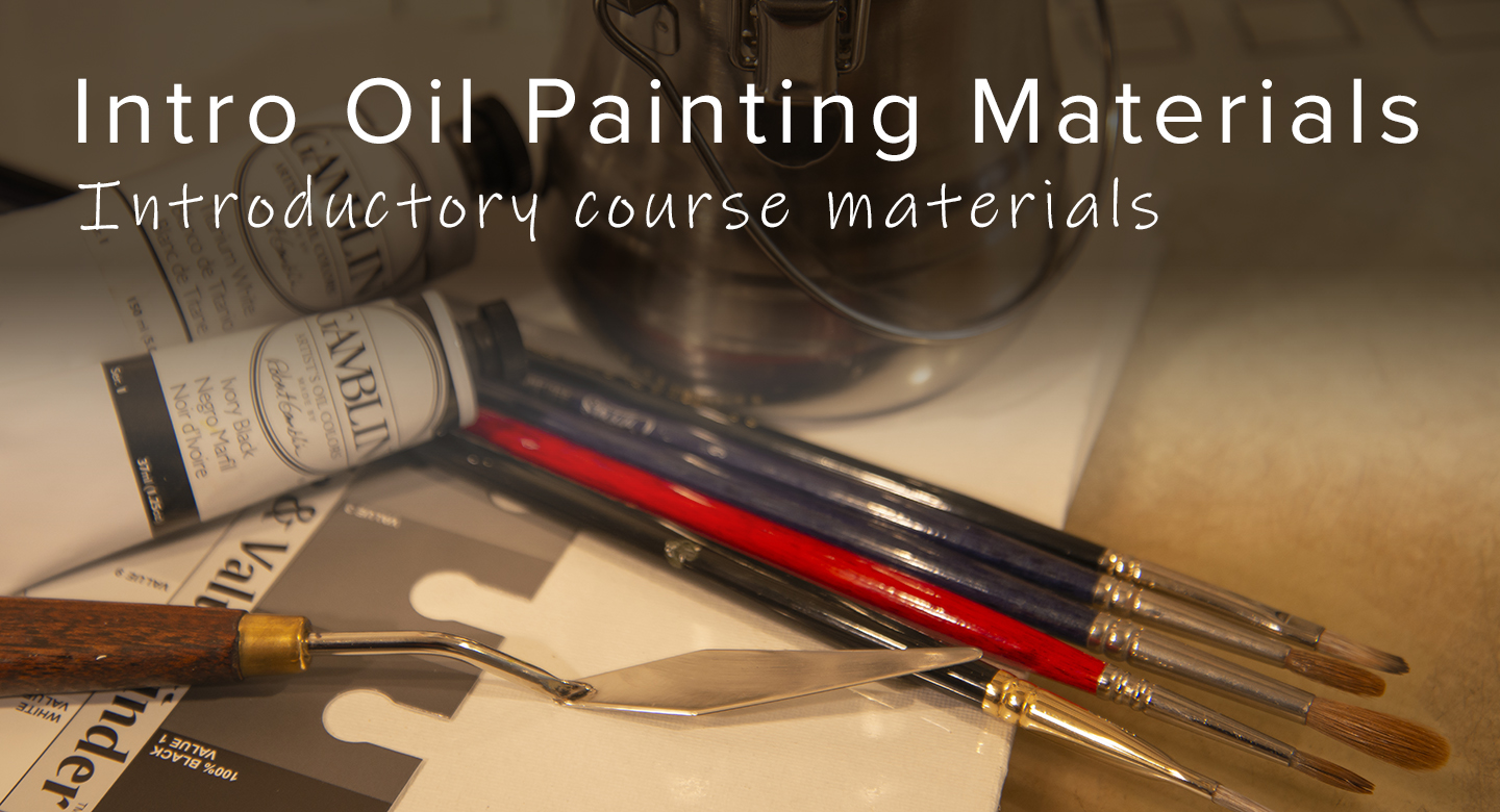 Intro to oil painting materials for RL Caldwell Studio
